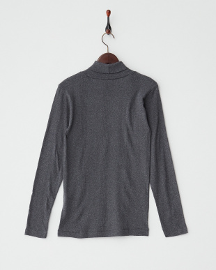 CHARCOAL  PANEL RIBBED TURTLE NECK L/SL見る