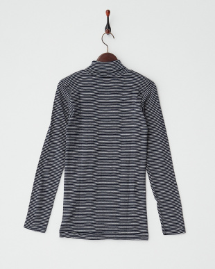 NVY/NAT・ボーダー  PANEL RIBBED TURTLE NECK L/SL見る