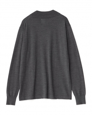 GREY  STANDARD BOTTLE NECK KNIT見る