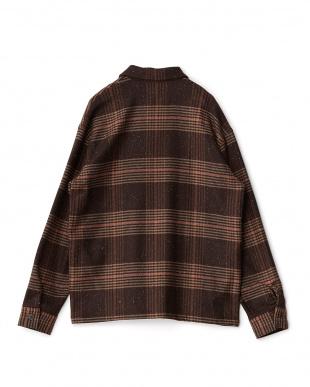 BRN  カラーネップストレッチシャツジャケット WH見る