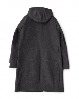 Charcoal  Melton Hooded Coat DOORS見る