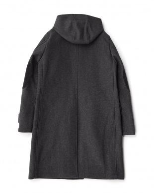 Charcoal  Melton Hooded Coat DOORS見る