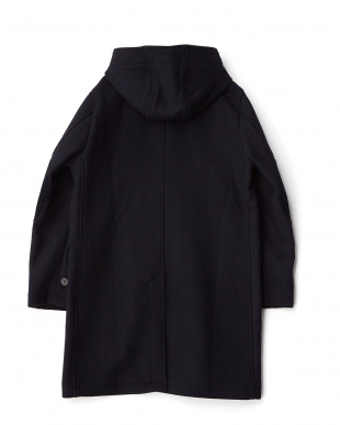 Navy  Melton Hooded Coat DOORS見る