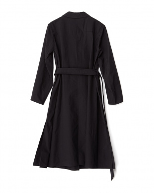 999 BLACK LEMAIRE ウールTRENCH DRESS ROSSO見る