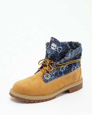 Wheat Nubuck With Print ブーツ ROLLTOP見る