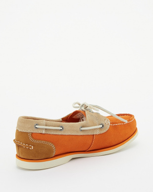 Burnt Orange Suede Tri-Color  カジュアル CLASSIC BOAT見る