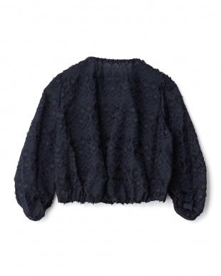 ネイビーブルー  立体刺繍ジャケット見る
