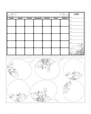 Dry Erase Calendar見る