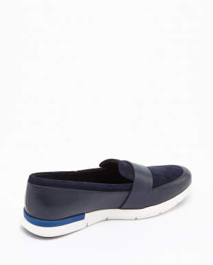 MARINE BLUE SUEDE/LEATHER/IVORY  GRAND HORIZON LOAFER LUX見る
