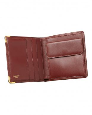 ボルドー マストライン 二つ折り財布見る