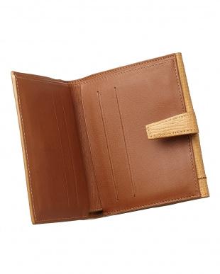 ライトブラウン Wホック二つ折り財布見る