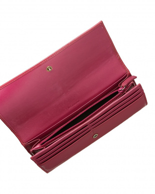 ピンク エナメル 長財布見る
