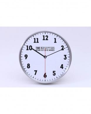 ホワイト 壁掛け時計 タイムズ見る
