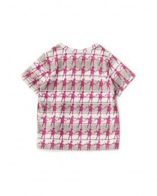 ローズピンク  ドールプリントTシャツ見る