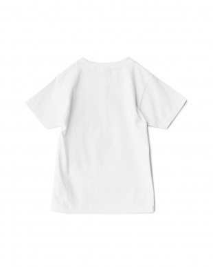 ホワイト  FLOWER アートプリントTシャツ見る