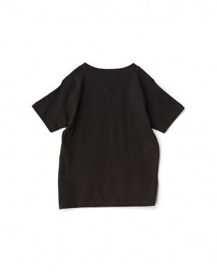 ブラック  FLOWER アートプリントTシャツ見る