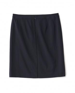 ダークネイビー  ロザージュジャージタイトスカート見る