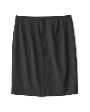 ブラック  セーブルストライプタイトスカート見る