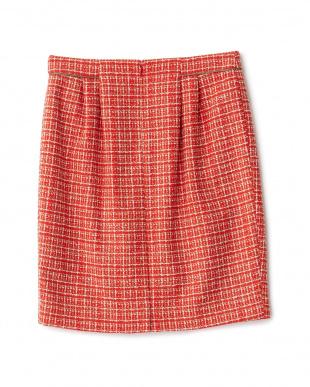 レッド系 ウィンドペンツィードスカート見る
