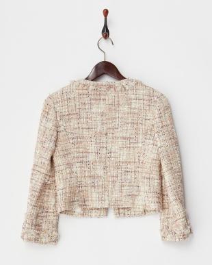 ベージュ系  wool rich blend ツイードジャケット見る