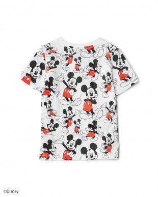 ホワイト MICKEY ALL OVER Tシャツ KIDS見る