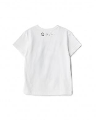 オフホワイト フレンチプリントTシャツ KIDS見る