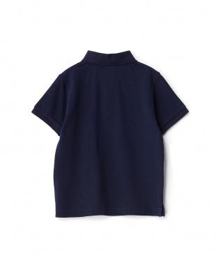 ネイビー  カノコ ショートスリーブポロシャツ KIDS見る