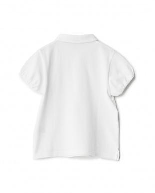 オフホワイト  カノコ ショールカラーショートスリーブポロシャツ KIDS見る
