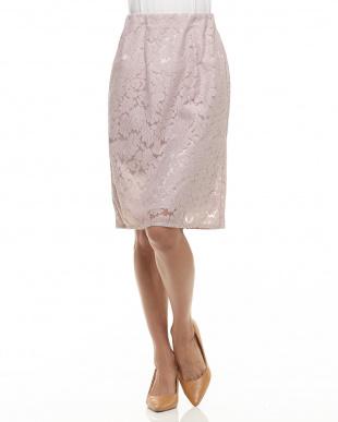 ピンク  レースタイトスカート見る