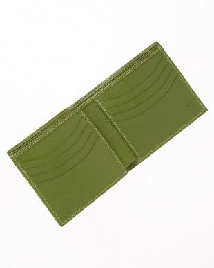 グリーン  2つ折り財布見る