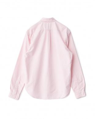 ピンク  ボタンダウンオックスフォードシャツ見る