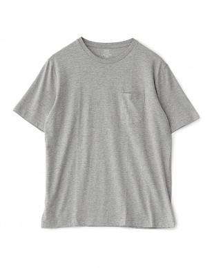 グレー(ホワイト・グレー)  PERUVIAN PIMA COTTON 2パック ポケットTシャツ見る
