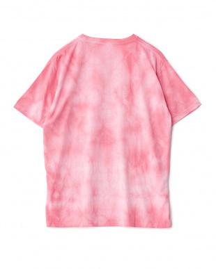 ピンク  タイダイ染めTシャツ見る