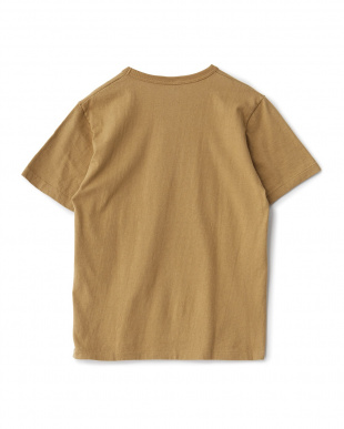 ブラウン  プリントクルーネックTシャツ見る