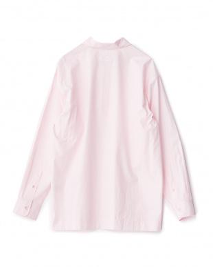 ピンク  ハーフジッププルオーバーシャツ見る