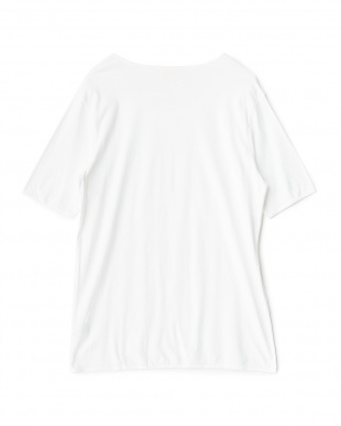 ホワイト  クルーネックショートスリーブTシャツ見る