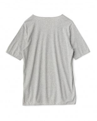 グレー  クルーネックショートスリーブTシャツ見る
