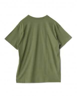 ダークグリーン  カリフォルニア プリントTシャツ(OLIVE)見る