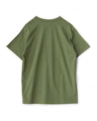 オリーブ  カリフォルニア プリントTシャツ(OLIVE)見る
