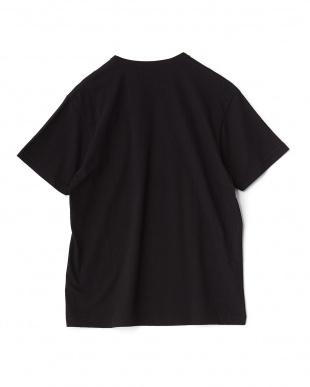 ブラック ソフトコットンクルーネックTシャツ見る