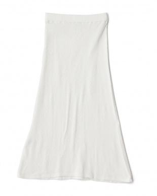 ホワイト  16SSカスリガーゼパイルマキシスカート見る