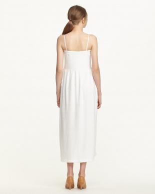 ホワイト  ガーゼパイルチューブトップドレス見る