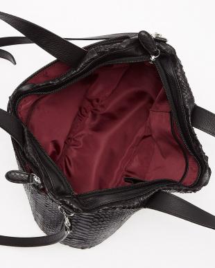 ブラック  ダイヤモンドパイソン 2WAYバッグ見る