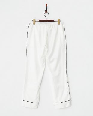 WHITE×PIPING BLACK パジャマパンツ見る