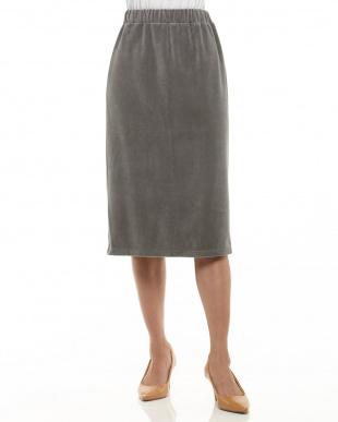 GRAY ベロアタイトスカート見る