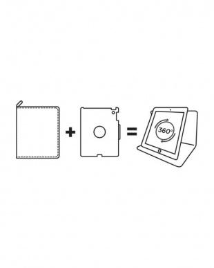 ブラック iPad Air2ホルダー タブレットケース用見る