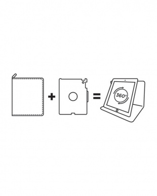 ブラック Xラージ iPad Pro12.9インチ タブレットホルダー タブレットケース用見る