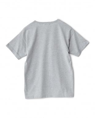 杢グレー  RESOLVEプリント刺繍Tシャツ見る
