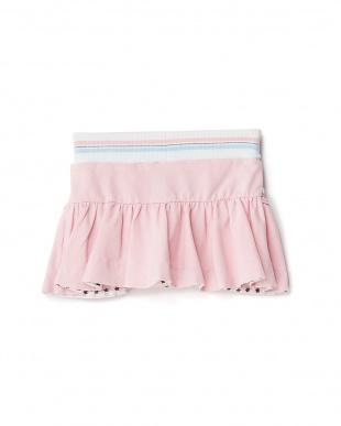 ピンク フリルポケットスカート見る