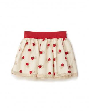 シロ ローズ刺繍チュールスカート見る